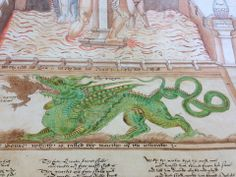 "SHADOW OF NIGHT real-time reading, 31 December 1590 (Chapter 18): This photo - ""Alchemical dragon, Ripley Scroll, Beinecke Library MS Mellon 41, Yale University"" ~ Deborah Harkness facebook"