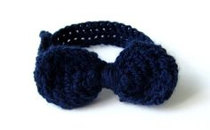 Bow tie for babyNavy bluecrochet bot tie by Amaiahandmade on Etsy