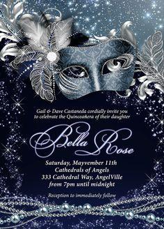 Masquerade Party Invitation Mardi Gras Party Party by BellaLuElla