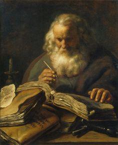 Jan Lievens - Saint Paul, c. Potrait Painting, Portrait Art, Ages Of Man, Baroque Art, Dutch Golden Age, Classic Paintings, National Gallery Of Art, Dutch Painters, Caravaggio