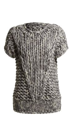 Chunky Cotton Handknit Top