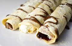 food, chocolate, and crepes afbeelding