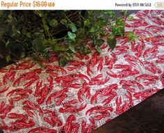 PRESIDENTS DAY SALE Table Runner Lobster on by MakeMeOver on Etsy