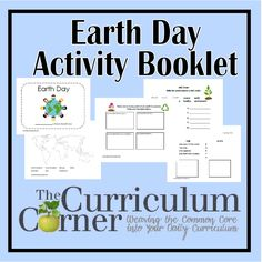 Earth Day Activity Booklet - great free printable for first through fourth grade students.  Pick the pages that work for your kids!  Free from www.thecurriculumcorner.com.