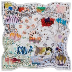 Shop The Messy Bandana Foulard by JANE CARR. This lustrous silk twill design is inspired by four vintage bandanas. Vintage Bandana, Rolled Hem, Different Colors, Style Icons, Gift Wrapping, Rainbow, Printed Silk, Scarfs, Prints