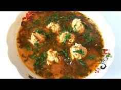 Ciorbă de perișoare pas cu pas - rețeta preferată a familiei mele - YouTube Supe, Ethnic Recipes, Food, Youtube, Canning, Essen, Meals, Yemek, Youtubers
