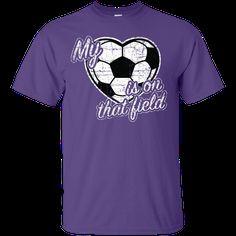 Heart Is On The Field - Soccer - Unisex Tee