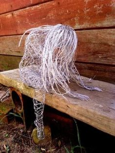 Wire woman sculpture