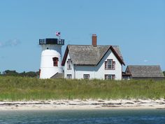 ATTRACTION//Stage Harbor Light (a.k.a. Harding's Beach Lighthouse)--youngest lighthouse in Cape Cod, built in 1880, decommissioned in 1933, is now private property but can be viewed from Harding's Beach #stageharborlight      #capecodlighthouses #capecod     #spmvacations
