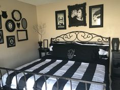 THE PICTURES OVER THE HEADBOARD
