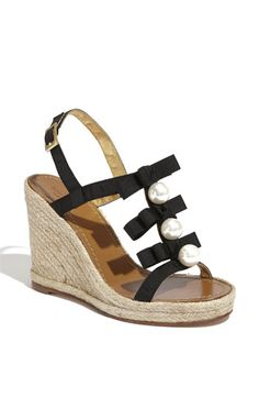 I always associate espadrilles with beach and summer and casual.  But the pearl detailing lends this shoe lots more wearing potential.  kate spade new york via Nordstrom