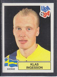 #Panini - usa 94 world cup - # 158 klas #ingesson - sverige (black #back), View more on the LINK: http://www.zeppy.io/product/gb/2/302081807974/