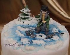 "Торт""Зимняя рыбалка"""