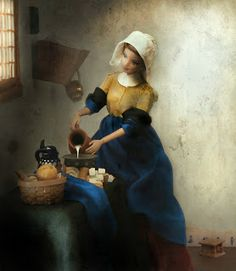 Mariel Clayton, after Vermeer's The Milkmaid from c. 1660