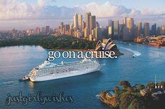 go on a cruise #bucketlist