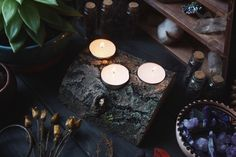 Witchy workroom and jewelry by Daria Zueva/ Tales of the northern Forest