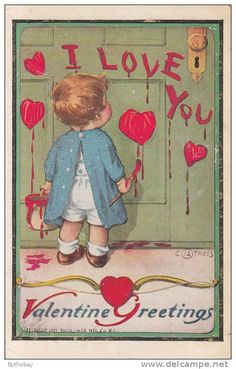 "Vintage ""Valentine Greetings"" from delcampe.net."