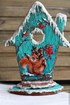 Вкусный и ароматный пряничный домик порадует Ваших близких. Ручная работа. Подарок на Новый год