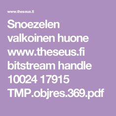 Snoezelen valkoinen huone www. Pdf, Handle, Door Knob