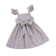 Muasaaluxi Newborn Infant Toddler Baby Girl Short Sleeve Plaid Dress Bowknot Princess Dress Casual Sundress Playwear Outfit