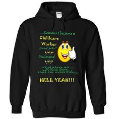 CHILDCARE WORKER T Shirts, Hoodies. Check price ==► https://www.sunfrog.com/Funny/CHILDCARE-WORKER-2847-Black-qrc9-Hoodie.html?41382 $39.99