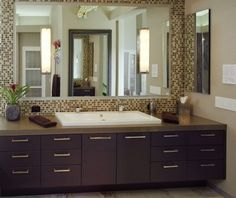 Trough sink - bathroom option for his and hers in a small space.