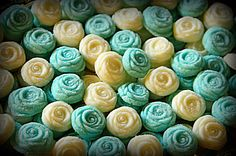Homemade wedding mints - need them in lavender and yellow please