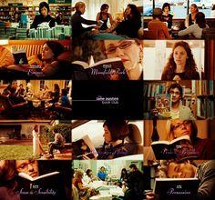 The Jane Austen book club movie photo collage
