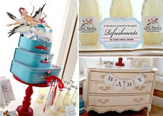 Decorate your next baby shower with a stork  airline theme! Via Kara's Party Ideas @HUGGIES Baby Shower Planner