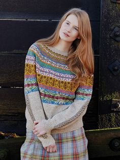 Lovage sweater in the Rowan Book Windswept - I would knit it but more fitted, that is, less ease.