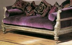 Purple velvet...one of my favorite colors and it would look so good in my home!