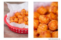 Be still my heart - sweet potato tater tots! I wonder if they come frozen in a bag?