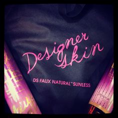 #DesignerSkin sunless tanning swag! Photo from #SunTanCity's #Instagram page! Follow us @OfficialSunTanCity