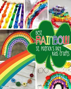 Best Rainbow St. Patrick's Day Crafts for Kids! - onecreativemommy.com