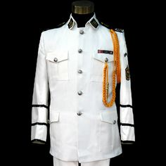 Buy White Single Breasted Navy Guard of Honor Dress Suits for Men Prom SKU-123004