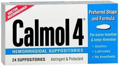 Other OTC Medicine: Calmol 4 Hemorrhoidal Suppositories 24 Each (Pack Of 4) BUY IT NOW ONLY: $54.9