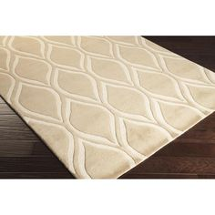 Stamped Area Rug   Brown Geometric Rugs Hand Tufted   Style STM820