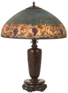 18 In. Handel Reverse Painted Table Lamp