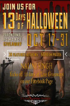 13 Days of Halloween Featuring Nalini Singh and 28 of Your Favorite Authors!   I Love Vampire Novels