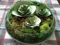 The Singing Shell: Paper Succulents, Stampin Up Bouquet Die
