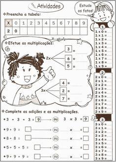 ATIVIDADES PARA APOIO PEDAGÓGICO: Várias de Matemática