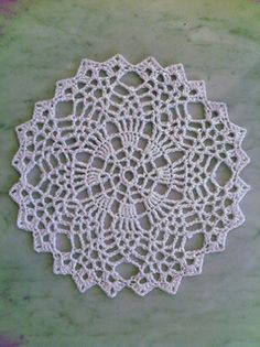 Ravelry: Multiple Choice Doily (Archived) pattern by Marilyn Coleman. Doily for Charolette? Crochet Round, Crochet Home, Crochet Crafts, Crochet Projects, Free Crochet Doily Patterns, Crochet Motif, Crochet Designs, Free Pattern, Crochet Coaster