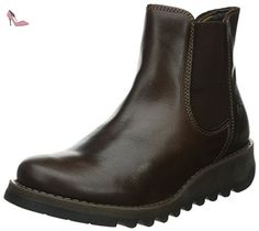 Fly london Salv Dark Brown Leather Womens Ankle Boots-37 - Chaussures fly london (*Partner-Link)