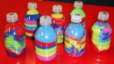 preschool crafts with art sand | these sand art bottles were made by students in preschool