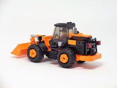 Custom LEGO Hitachi Wheel Loader (Revised Variant)