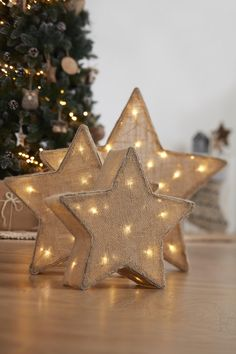 hessian lit stars will bring that christmas spirit they also make for great accessories all