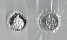 Two 1982 Washington Commemorative Silver Half by COLLECTORSCENTER