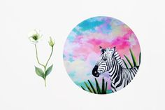 Zebra Mouse Pad Animal Mousepad Pink Mouse Mat by BlissNhome