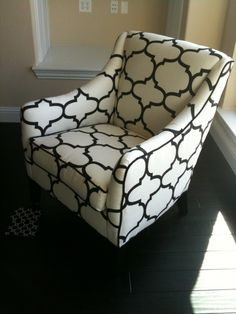 Moroccan patterned reading chair.