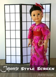 Folding screens are popular with home decor. They can also be a fun addition to your dollspace! Use one as a room divider, a scene backdrop, a photo shoot backdrop or simply to add a little zing to your doll decor! Today I'll show you how to make a screen. Mine is decorated in a...Read More »